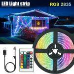 5V 2835 Led Strips Decoratie Verlichting Usb Infrarood Afstandsbediening Lint Lamp Voor Festival Party Slaapkamer Rgb Backlight