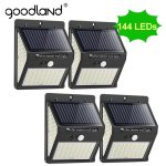 Goodland 144 100 Led Solar Light Outdoor Solar Lamp Pir Motion Sensor Zonne-energie Zonlicht Straat Licht Voor Tuin Decoratie