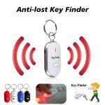 Smart Key Finder Anti-Verloren Fluitje Sensoren Sleutelhanger Tracker Led Met Fluitje Claps Locator