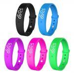 V9 Lichaamstemperatuur Monitor Thermometers Smart Armband Trillingen Alarm Horloge Smartband Fitness Bluetooth Waterdichte Slimme Band
